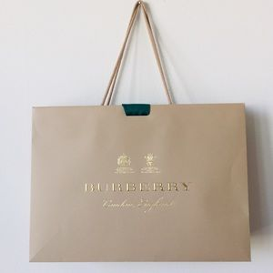 Burberry Bag Shopping Bag with Green Ribbon